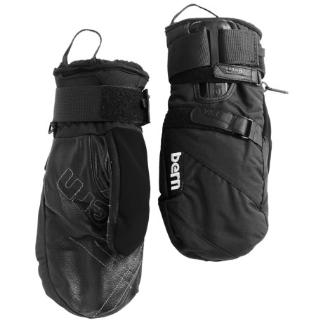 Bern Adjustable Mittens with Removable Wrist Guard Waterproof Insulated For Men and Women