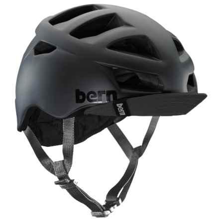 Bern Allston Cycling Helmet (For Men) in Matte Black - Closeouts