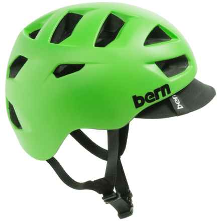 Bern Allston Cycling Helmet (For Men) in Matte Neon Green - Closeouts