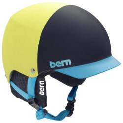 Bern Baker EPS Hatstyle Multi-Sport Helmet in Matte Neon Yellow/Black Knit