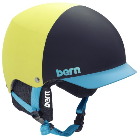 Bern Baker EPS Hatstyle Multi-Sport Helmet in Matte Neon Yellow/Black Knit