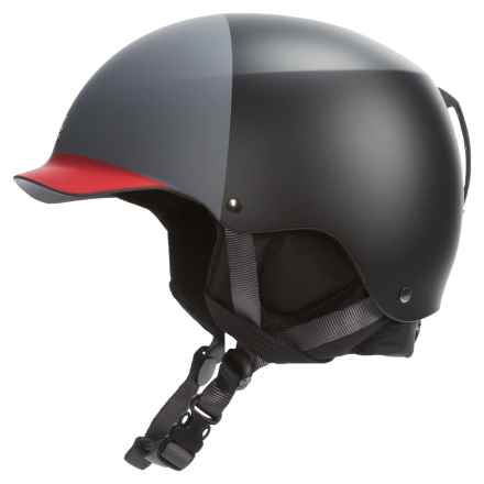 Bern Baker EPS Hatstyle Ski Helmet in Matte Black/Charcoal/Red - Closeouts