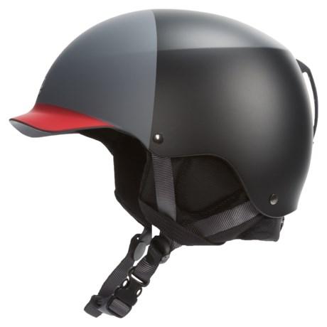 Bern Baker EPS Hatstyle Ski Helmet in Matte Black/Charcoal/Red