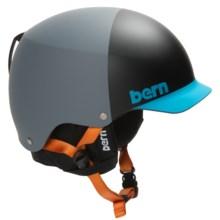 Bern Baker EPS Hatstyle Ski Helmet in Matte Grey/Blue - Closeouts