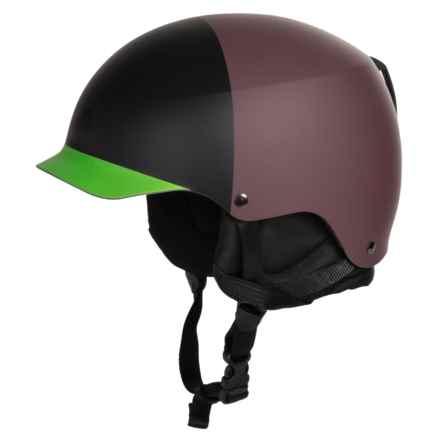 Bern Baker EPS Hatstyle Ski Helmet in Matte Oxblood/Black/Neon Green - Closeouts
