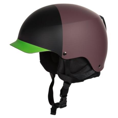 Bern Baker EPS Hatstyle Ski Helmet in Matte Oxblood/Black/Neon Green