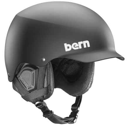 Bern Baker Ski Helmet in All Black Everything - Closeouts
