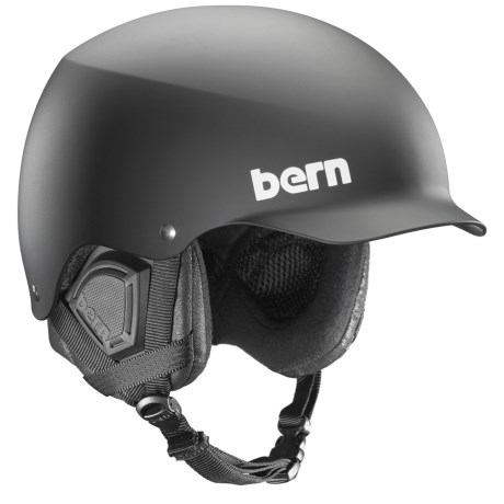 Bern Baker Ski Helmet in All Black Everything