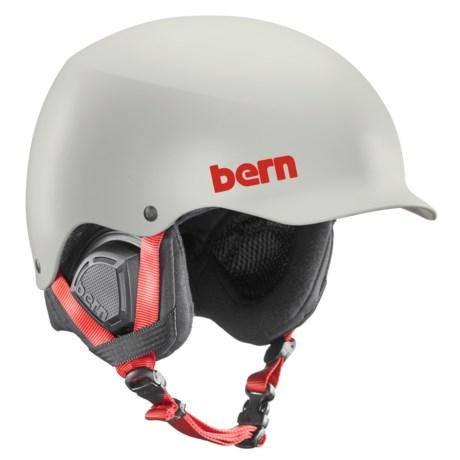 Bern Baker Ski Helmet in Satin Light Gray