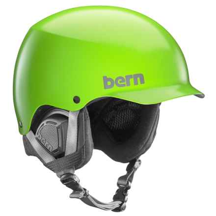 Bern Baker Ski Helmet in Satin Neon Green - Closeouts