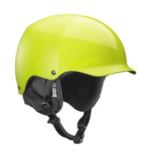 Bern Baker Ski Helmet - Removable Liner in Matte Neon Yellow - Closeouts
