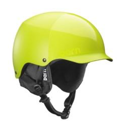 Bern Baker Ski Helmet - Removable Liner in Matte Neon Yellow