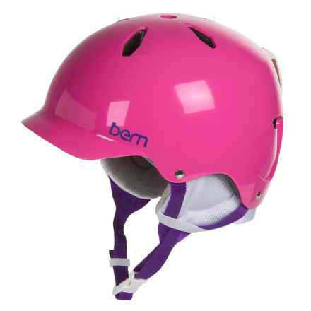 Bern Bandita Ski Helmet (For Big Girls) in Gloss Pink - Closeouts