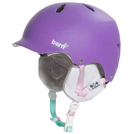 Bern Bandita Ski Helmet (For Big Girls) in Matte Purple - Closeouts