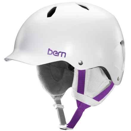 Bern Bandita Thin Shell Ski Helmet (For Big Girls) in Satin White - Closeouts
