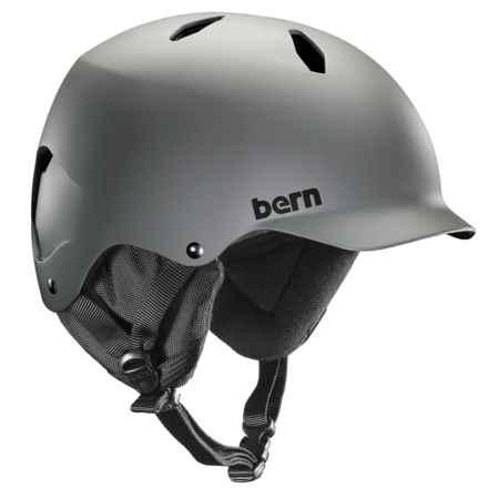 Bern Bandito Ski Helmet (For Big Boys) in Matte Grey - Closeouts