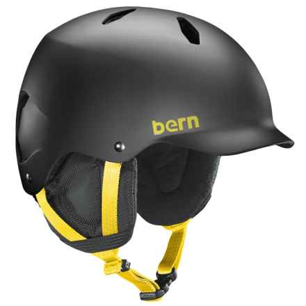 Bern Bandito Thin Shell Ski Helmet (For Big Boys) in Matte Black - Closeouts