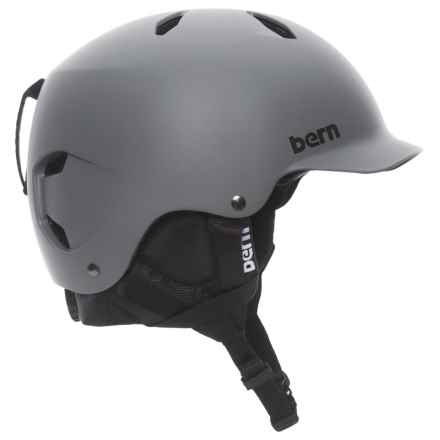 Bern Bandito Thin Shell Ski Helmet (For Big Boys) in Matte Gray - Closeouts