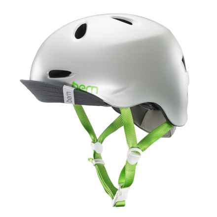 Bern Berkeley Bike Helmet with Visor - Removable Liner (For Women) in Satin Delphin Grey - Closeouts