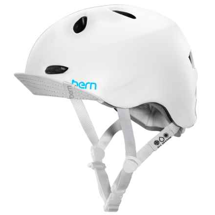 Bern Berkeley Bike Helmet with Visor - Removable Liner (For Women) in Satin White - Closeouts