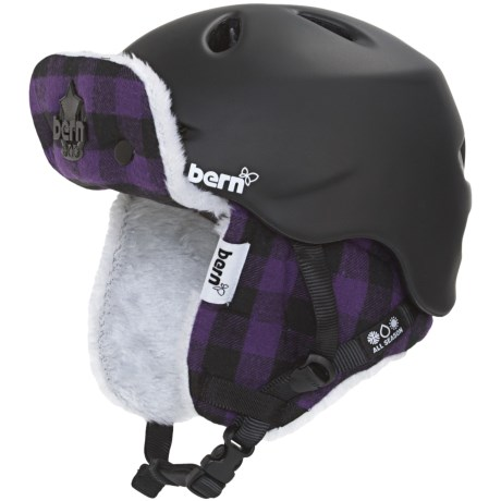 Bern Berkeley Multi-Sport Helmet - Removable Liner, Zip Mold® (For Women) in Matte Black/Buffalo Plaid Hunter
