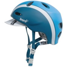 Bern Berkeley Zip Mold® Cycling Helmet - Removable Visor (For Women) in Matte Atlantic Blue Bomber - Closeouts