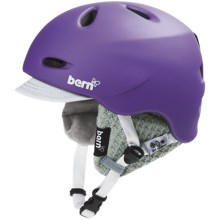 Bern Berkeley Zip Mold® Multi-Sport Helmet - Removable Liner (For Women) in Matte Purple/Visor Knit - Closeouts