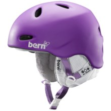 Bern Berkeley Zip Mold® Ski Helmet - Removable Winter Liner (For Women) in Matte Purple - Closeouts