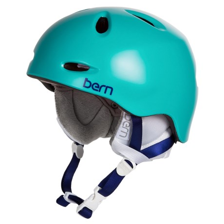 Bern Berkeley Zip Mold® Ski Helmet - Removable Winter Liner (For Women) in Satin Seafoam