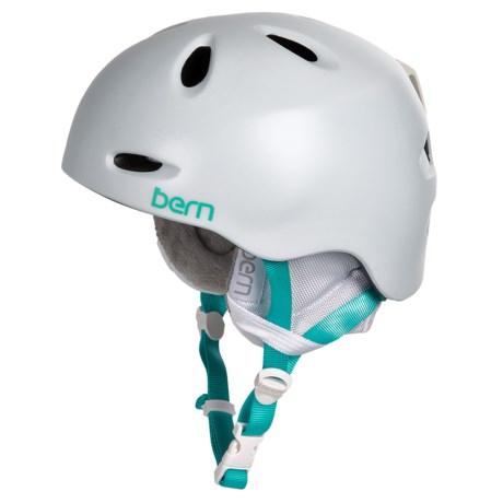 Bern Berkeley Zip Mold® Ski Helmet - Removable Winter Liner (For Women) in Satin White