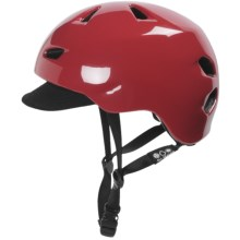 Bern Brentwood Cycling Helmet with Visor (For Men) in Gloss Red - Closeouts