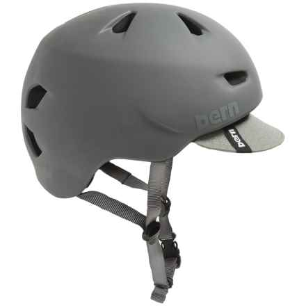 Bern Brentwood Cycling Helmet with Visor in Matte Grey - Closeouts