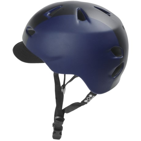Bern Brentwood Cycling Helmet with Visor in Matte Midnight Blue Bomber