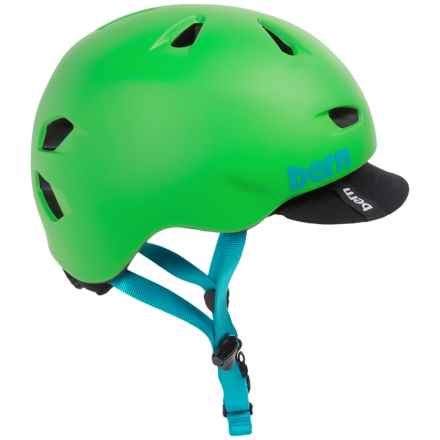 Bern Brentwood Cycling Helmet with Visor in Matte Neon Green - Closeouts