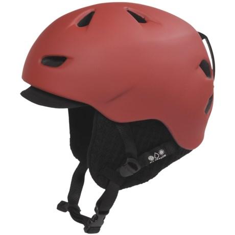 Bern Brentwood Zip Mold® Multi-Sport Helmet - Removable Winter Liner in Matte Red/Black Visor Knit