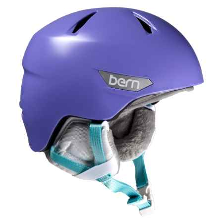 Bern Bristow Junior Ski Helmet (For Little Girls) in Satin Purple - Closeouts