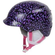 Bern Camina Ski Helmet (For Little Girls) in Satin Purple Leopard - Closeouts
