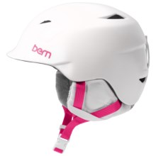 Bern Camina Ski Helmet (For Little Girls) in Satin White - Closeouts