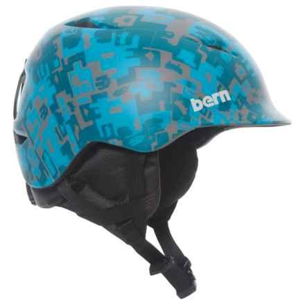 Bern Camino Ski Helmet (For Little Boys) in Matte Blue Camo - Closeouts