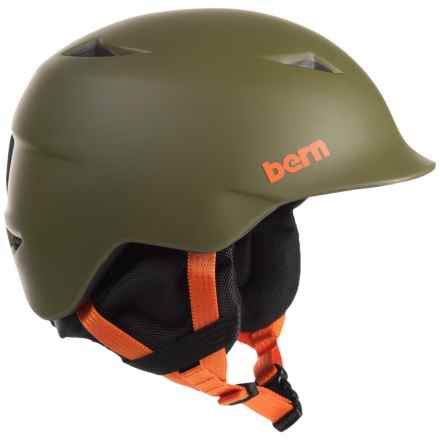 Bern Camino Ski Helmet (For Little Boys) in Matte Olive Green/Black - Closeouts