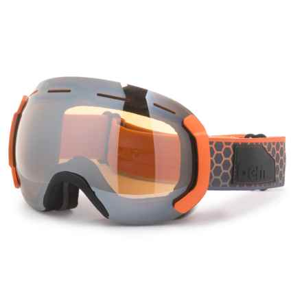 Bern EASTWOOD MEDIUM FRAME SNOWSPORT GOGGLES -  EXTRA LENS in Orange/Grey/Gold/Yellow/Blue - Closeouts
