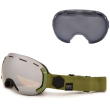 Bern Eastwood PLUSfoam Ski Goggles - Extra Lens in Army/Gold Light Mirror - Closeouts