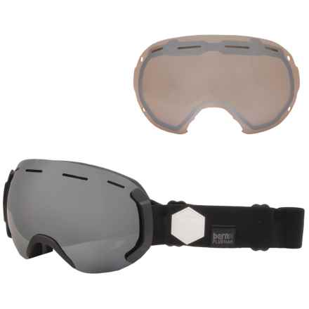 Bern Eastwood PLUSfoam Ski Goggles - Extra Lens in Black/Black/Grey Light Mirror - Closeouts