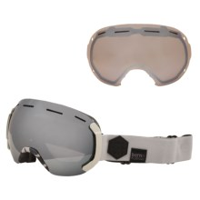 Bern Eastwood PLUSfoam Ski Goggles - Extra Lens in Grey/Black/Grey Light Mirror - Closeouts