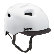 Bern G2 Cycling Helmet with Visor in Gloss White - Closeouts