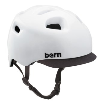 Bern G2 Cycling Helmet with Visor in Gloss White