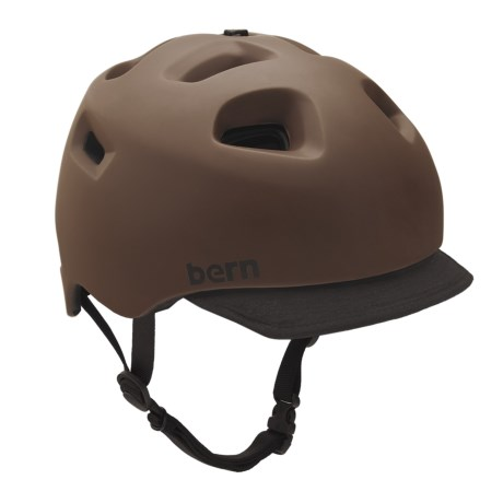 Bern G2 Cycling Helmet with Visor in Matte Brown