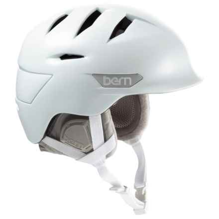 Bern Hepburn Zip Mold® Ski Helmet - Slider Vents (For Women) in Satin White - Closeouts