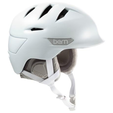 Bern Hepburn Zip Mold® Ski Helmet - Slider Vents (For Women) in Satin White