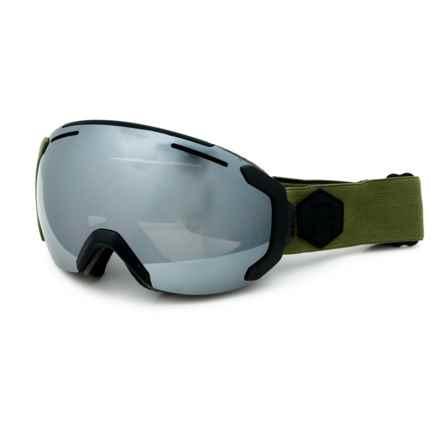 Bern Jackson Ski Goggles in Black Army/Grey Light Mirror - Closeouts